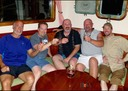 A brotherhood shares a toast.  Theese great sailing buddies now have more stories to share-RG1