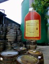 Chairman's Reserve - larger than life on this storage tank - is a staple of St. Lucia rum culture