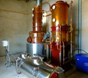 Chalong Bay still, wine warmer/condenser, storage tank and control equipment
