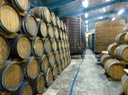 Large oak storage/marrying tanks and rhum aging barrels