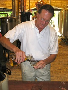 Larry Warren pouring-Bob Davies
