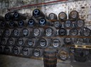 Magic happens here; 400 rum barrels stacked high inside La Favorite's stone aging room