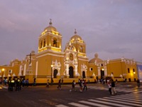 Cathedral in Plaza de Armas, Trujillo, Peru