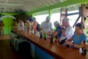 •Sampling finished product rums in St. Lucia Distillers' open-air tasting room-RG1