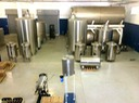 Stainless steel blending and marrying tanks.