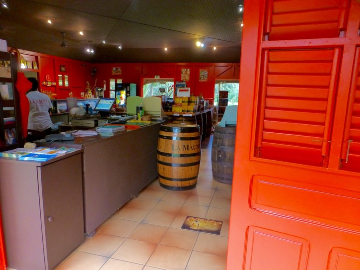 Step inside La Mauny's tasting room and boutique.  Sample the fine rhums and shrubbs