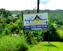 The sign indicates we're getting closer toi Rum! Destination- St. Lucia Distillers, Ltd.